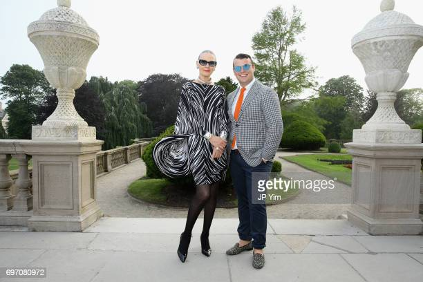 Maryse Gaspard and Zach Weiss attend Pierre Cardin's 95th Birthday Celebration during the Pierre Cardin 70 Years of Innovation fashion show at The...