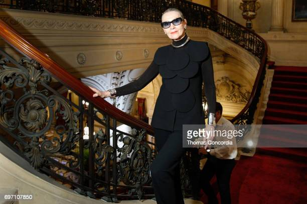 Maryse Gaspard backstage before the Pierre Cardin 70 Years Of Innovation fashion show at The Breakers on June 17 2017 in Newport Rhode Island