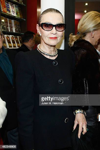 Maryse Gaspard celebrates the launch of 'Donatien Alphonse Francois de Sade' at Assouline Paris in the presence of the descendants of the Marquis on...