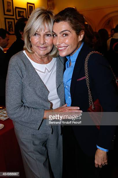 Maryse Gildas and acttress Daphne Roulier attend the FrançoisXavier Demaison show 'Demaison S'Evade' Premiere at Theatre Edouard VII on December 10...