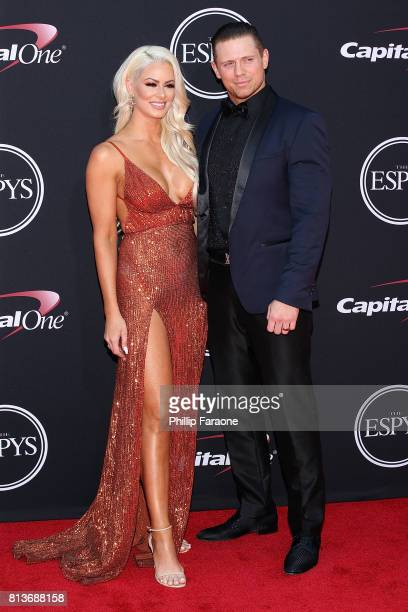 Maryse Ouellet and Michael Mizanin attend The 2017 ESPYS at Microsoft Theater on July 12 2017 in Los Angeles California
