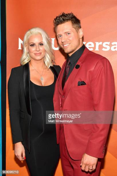 Maryse Ouellet and The Miz attends the 2018 NBCUniversal Winter Press Tour at The Langham Huntington Pasadena on January 9 2018 in Pasadena California