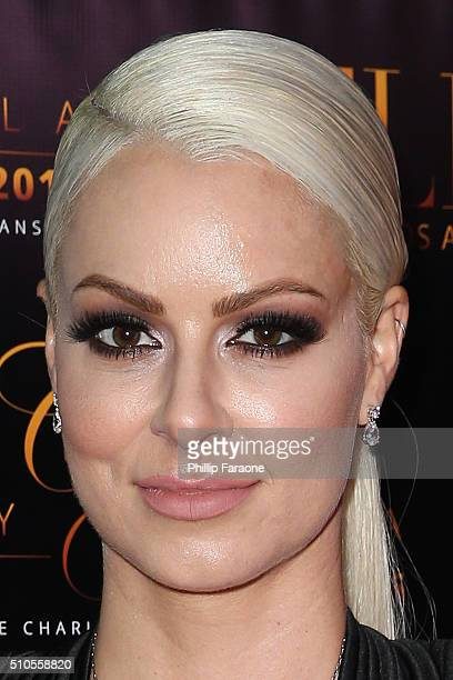 Maryse Ouellet attends the City Gala Fundraiser 2016 at The Playboy Mansion on February 15 2016 in Los Angeles California