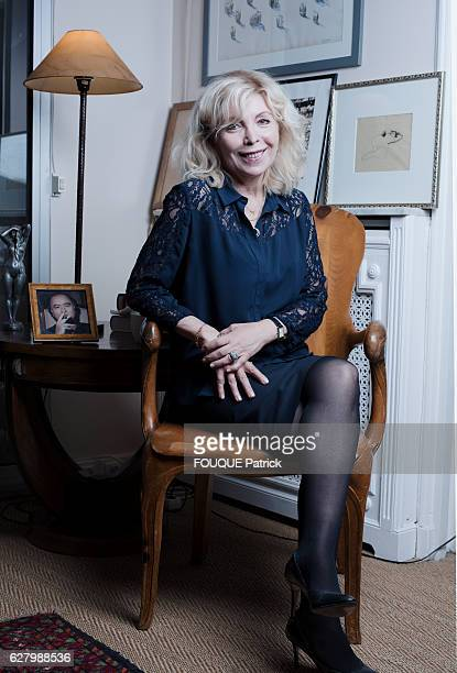 Maryse Wolinski pose for Paris Match at home on november 09 2016 in Paris France