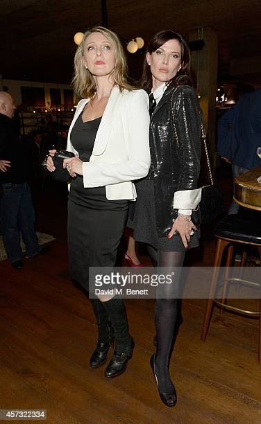 Marysia Trembecka and Ronni Ancona after performing at the newly opened hotel The Hoxton Holborn which launched with an immersive theatre play The...