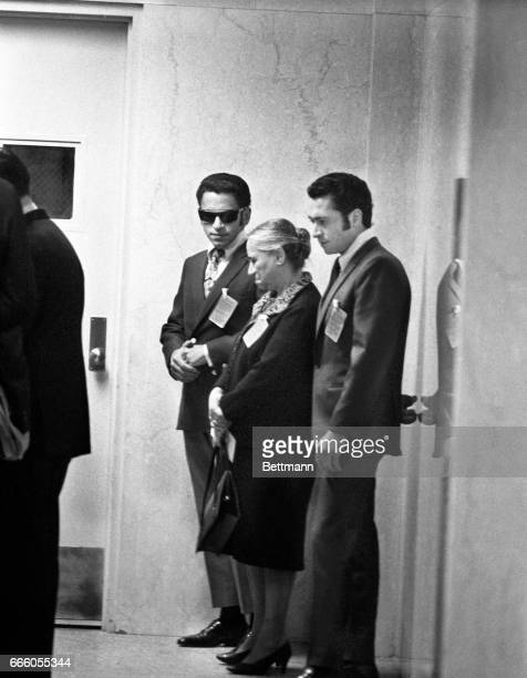 MarySirhan mother of Sirhan B Sirhan enters court on the second day of her son's trial flanked by two other sons Adel and Munir Sirhan B Sirhan...