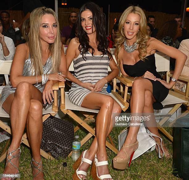 Marysol Patton Adriana de Moura and Lisa Hochstein attends the Guria Swimwear presented by SENSA at Funkshion on October 12 2012 in Miami Beach...