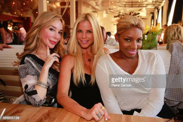 Marysol Patton Alexia Echevarria and Nene Leaks are seen at Seasalt and Pepper Restaurant on February 16 2014 in Miami Florida