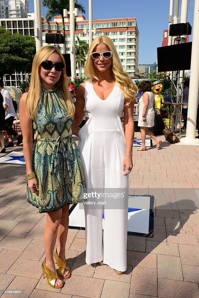 Marysol Patton and Alexia Echevarria attend Miami Walk Of Fame unveiling at Bayside Marketplace on March 21, 2014 in Miami, Florida.