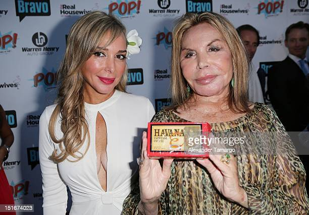 Marysol Patton and Elsa Patton attend The Real Housewives of Miami Season 2 VIP Launch Party at The Forge Restaurant on September 9 2012 in Miami...
