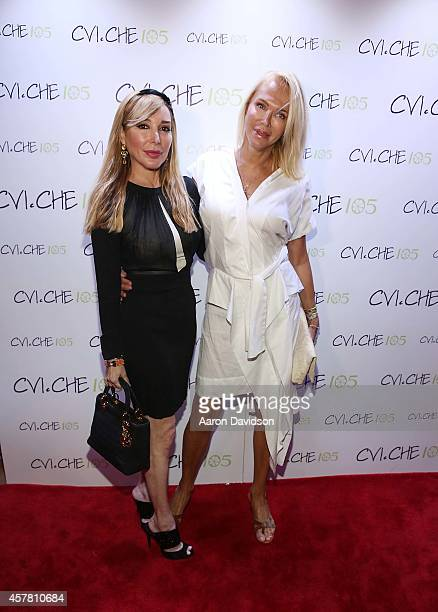 Marysol Patton and Lauren Faster attend the Private Opening Reception For CVICHE 105 South Beach on October 24 2014 in Miami Florida