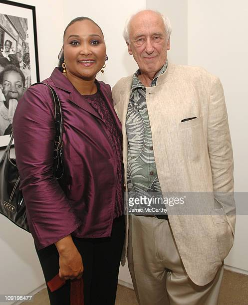 "Maryum Ali and Thomas Hoepker during Claiborne Presents ""Magnum Photos Muhammad Ali"" at 401 Projects to Kickoff the Magnum Festival at 401 Projects..."