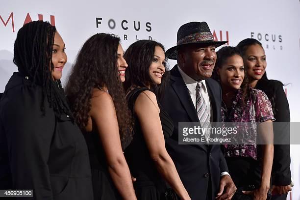 Maryum Ali Khaliah AliCamacho Jamillah AliJoyce Rahman Ali Rasheda AliWalsh and Hana Ali attend the Los Angeles premiere of Focus World's I Am Ali at...