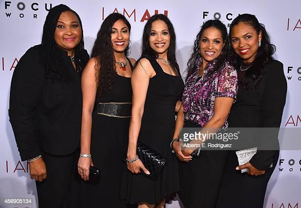 Maryum Ali Khaliah AliCamacho Jamillah AliJoyce Rasheda AliWalsh and Hana Ali attend the Los Angeles premiere of Focus World's I Am Ali at ArcLight...