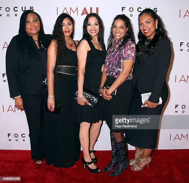 Maryum Ali Rasheda AliWalsh Khaliah Ali Jamillah AliJoyce and Hana Ali arrive at the Los Angeles premiere of Focus World's I Am Ali at ArcLight...