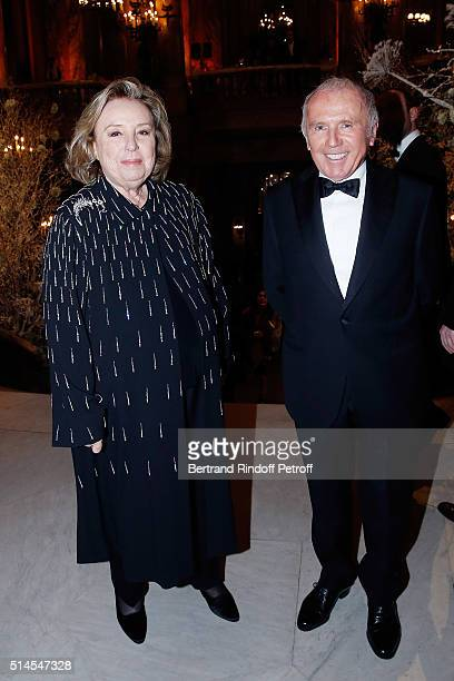 Maryvonne Pinault and Francois Pinault attend the Arop Charity Gala At the Opera Garnier under the auspices of Madam Maryvonne Pinault on March 9,...