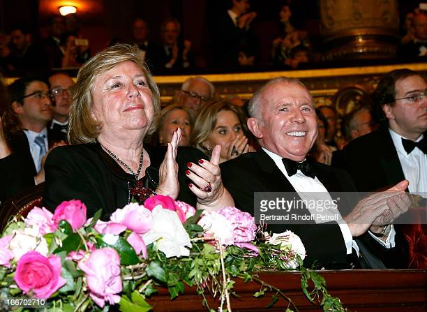 Maryvonne Pinault and her husband Francois Pinault attend Tricentenary of the French dance school AROP Gala at Opera Garnier on April 15 2013 in...