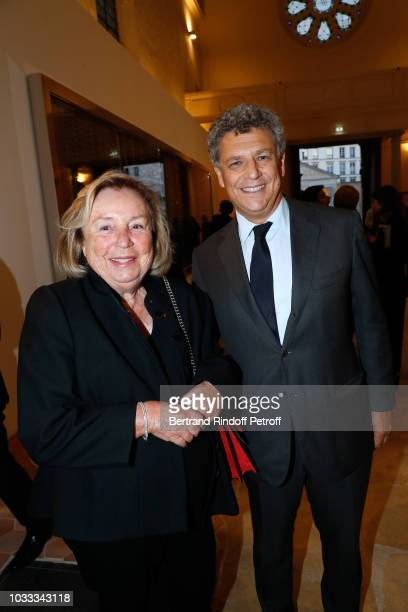 Maryvonne Pinault and Nicolas Kugel attend the Kering Heritage Days Opening Night at 40 Rue de Sevres on September 14 2018 in Paris France