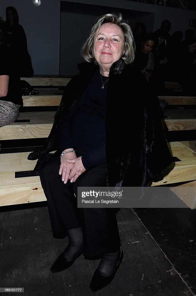 Maryvonne Pinault attend the Saint Laurent Fall/Winter 2013 Ready-to-Wear show as part of Paris Fashion Week on March 4, 2013 in Paris, France.