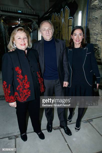 Maryvonne Pinault CEO of Kering Group FrancoisHenri Pinault and CEO of 'Boucheron' Helene PoulitDuquesne attend the Vendorama Exhibition as Boucheron...