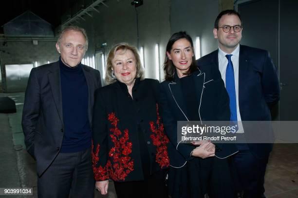 Maryvonne Pinault CEO of Kering Group FrancoisHenri Pinault CEO of 'Boucheron' Helene PoulitDuquesne and CEO of 'Monnaie de Paris' Aurelien Rousseau...