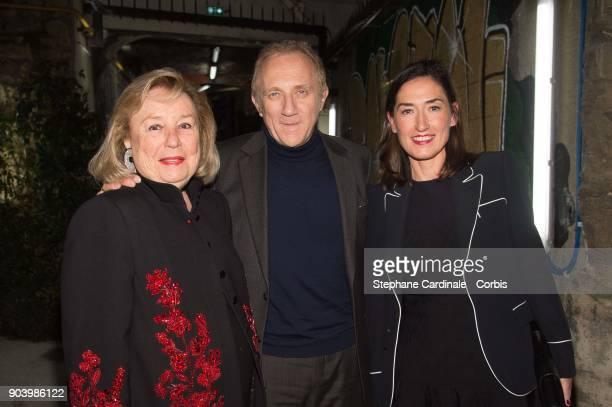 Maryvonne Pinault Francois Henri Pinault and Boucheron CEO Helene PoulitDuquesne attend the Vendorama Exhibition Boucheron Celebrates Its 160...