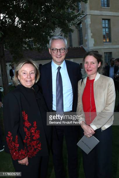 Maryvonne Pinault Politician Bruno Le Maire and his wife Pauline Doussau de Bazignan attend the Kering Heritage Days opening night at Kering and...