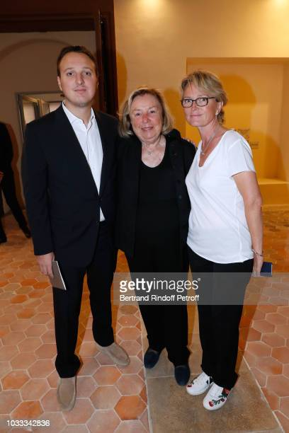 Maryvonne Pinault standing between Claude Chirac and her son Martin RayChirac attend the Kering Heritage Days Opening Night at 40 Rue de Sevres on...