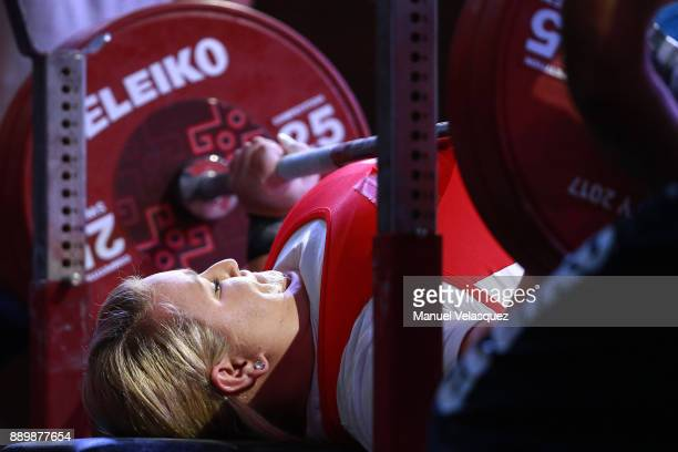 Marzena Zieba of Poland competes during the Women's Over 86Kg Group A Category as part of the World Para Powerlifting Championships Mexico 2017 at...