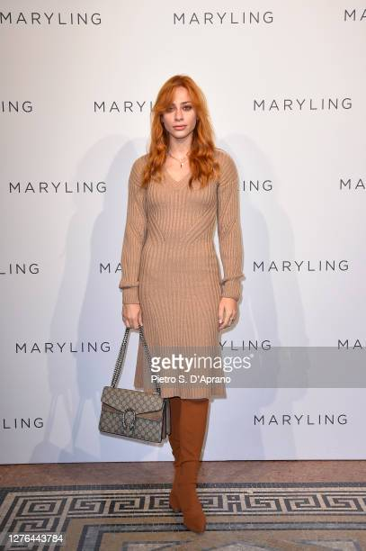 Marzia Peragine attends the Maryling Fashion Show during the Milan Fashion Week Spring/Summer 2021 on September 23, 2020 in Milan, Italy.