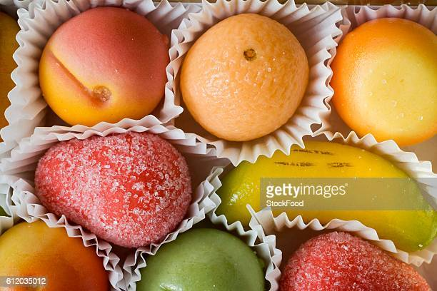 marzipan fruits - marzipan stock pictures, royalty-free photos & images