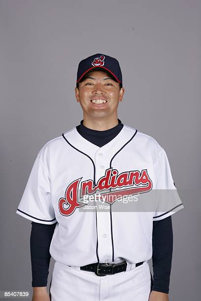 Masa Kobayashi of the Cleveland Indians poses during Photo Day on Saturday February 21 2009 at Goodyear Ballpark in Goodyear Arizona