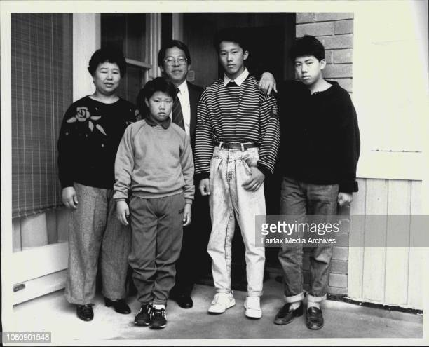 Masa Shimizu wife Keiko and Fumy 17 Keizo 15 and Michi 10 at their East Lindfield houseMasa Shimuzu is different from the many Japanese people...