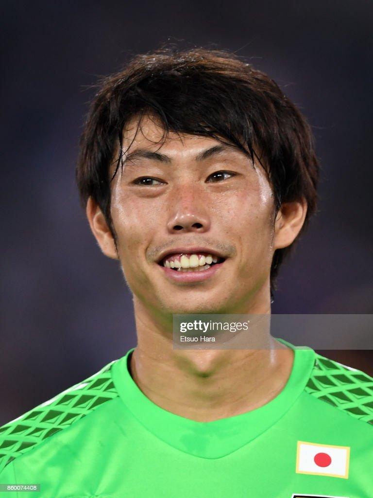 Masaaki Higashiguchi of Japan looks on prior to the international friendly match between Japan and Haiti at Nissan Stadium on October 10, 2017 in Yokohama, Yokohama, Japan.
