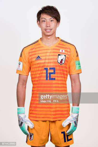 Masaaki Higashiguchi of Japan poses for a portrait during the official FIFA World Cup 2018 portrait session at the FC Rubin Training Grounds on June...