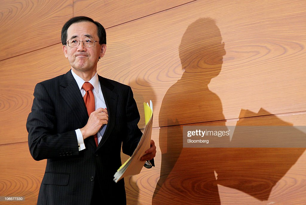 Bank Of Japan Govoner Masaaki Shirakawa News Conference