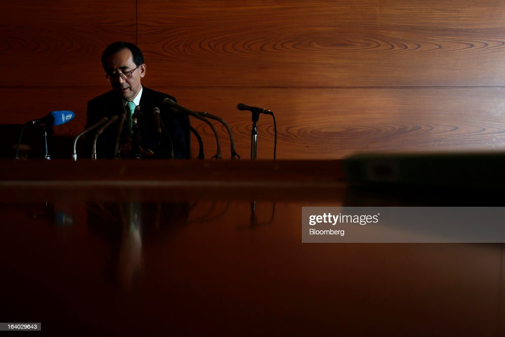 Bank Of Japan Governor Shirakawa Farewell News Conference