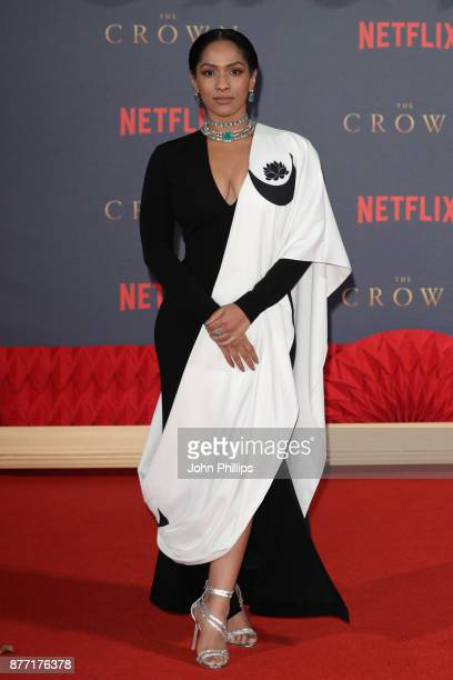 Masaba Gupta attends the World Premiere of season 2 of Netflix 'The Crown' at Odeon Leicester Square on November 21 2017 in London England