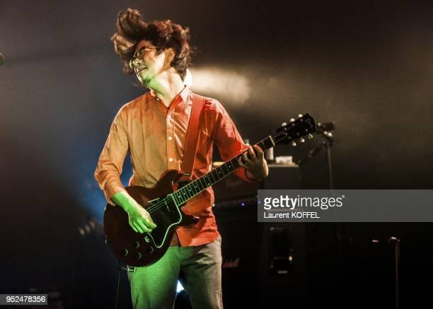 Masafumi Goto Kensuke Kita Takahiro Yamada and Kiyoshi Ijichi members of Japanese alternative rock band 'Asian KungFu Generation' perform live on...