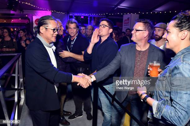 Masaharu Morimoto meets fans at the Food Network Cooking Channel New York City Wine Food Festival presented by CocaCola Rooftop Iron Chef Showdown...
