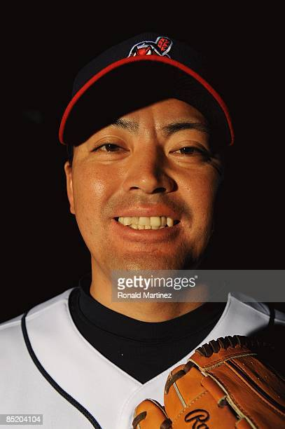 Masahide Kobayashi of the Cleveland Indians poses during photo day at the Indians spring training complex on February 21 2009 in Goodyear Arizona