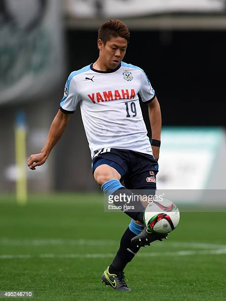 Masahiko Inoha of Jubilo Iwata in action during the JLeague second division match between Tokyo Verdy and Jubilo Iwata at Ajimonoto Stadium on...