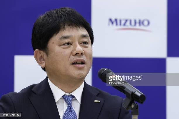 Masahiko Kato, incoming president and chief executive officer of Mizuho Bank Ltd., speaks during a news conference in Tokyo, Japan, on Friday, Feb....