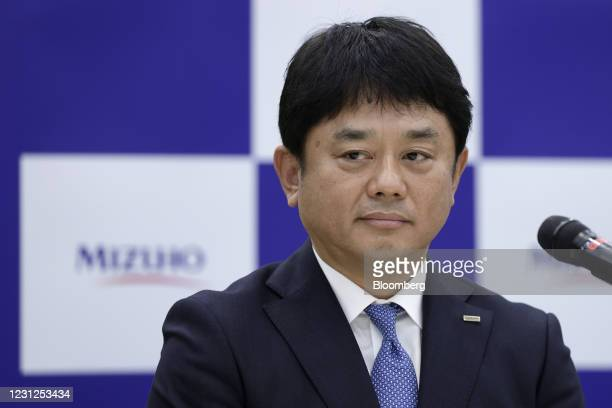 Masahiko Kato, incoming president and chief executive officer of Mizuho Bank Ltd., pauses during a news conference in Tokyo, Japan, on Friday, Feb....
