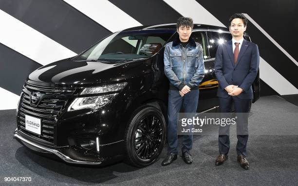 Masahiko Kondo attends the Autech Elgrand mini van Press Conference during Tokyo Auto Salon at Makuhari Messe on January 12 2018 in Tokyo Japan
