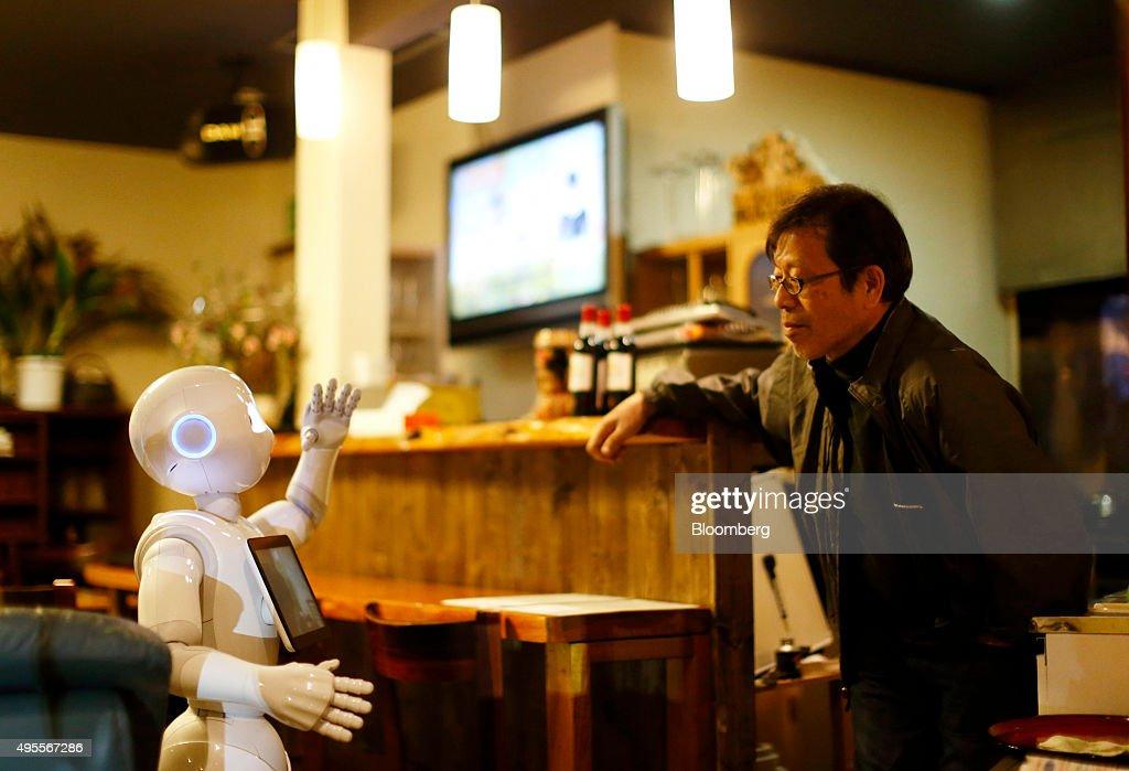 SoftBank's Pepper Robot Unboxed : News Photo