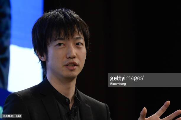 Masahiro Kasuya chief executive officer of Meltin MMI speaks during the Bloomberg Year Ahead summit in Tokyo Japan on Thursday Dec 6 2018 The summit...