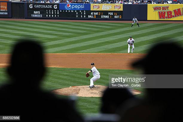 Masahiro Tanaka New York Yankees pitching during the New York Yankees V Tampa Bay Rays Major League Baseball game at Yankee Stadium The Bronx New...