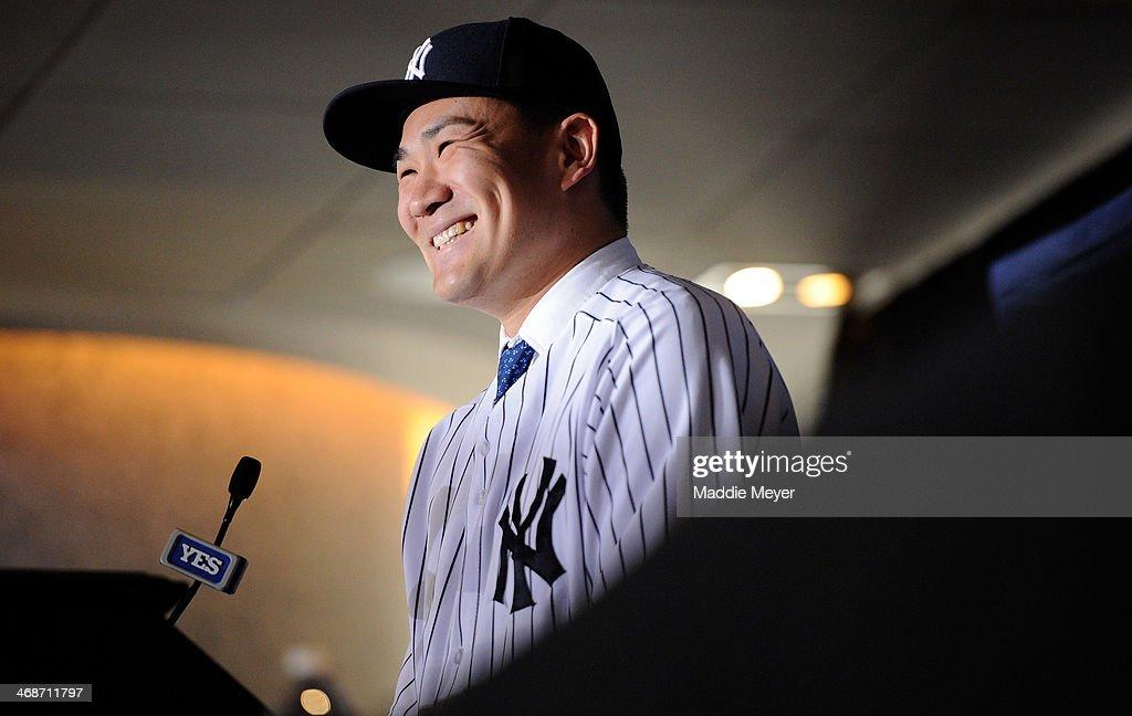 New York Yankees Introduce Masahiro Tanaka : News Photo