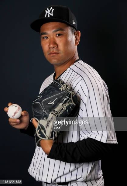 Masahiro Tanaka of the New York Yankees poses for a portrait during the New York Yankees Photo Day on February 21 2019 at George M Steinbrenner Field...